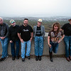 JIM VAIKNORAS/Staff photo The Joppa Flatts Jason Murley , drums Danvers, Michael Garron , bass guitar, Stratham NH, Craig Macdonald, guitar / lead vocals Quincy, Douglas Plant, keyboards /vocals Ipswich Ma, Ellen Katz, lead vocals, Needham Ma, Chris Santarelli,  lead guitar/founder Newburyport Ma pose along the Seawall in Newburyport with Joppa Flats in Newburyport.