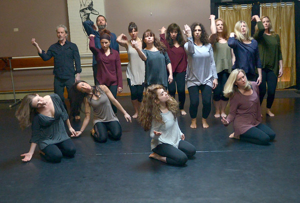 JIM VAIKNORAS/Staff photo A rehearsal for the Exit Dance Company at the Dance Place in Newburyport.