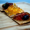 JIM VAIKNORAS/Staff photo Fig Chutney, Orange Marmalaide, and Hot Pepper Jelly on sea salt crackers