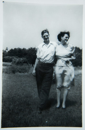 JIM VAIKNORAS/Staff photo Winnie and Karl Pettengill at the farm in the early 1930.