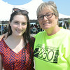 JIM VAIKNORAS/Staff photo  Deb Aandrews and her niece Kaytlyn Wilson at the Newburyport 250th clam bake