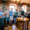 JIM VAIKNORAS/Staff photo  Rick Hayes at Lilyput talks about tea during the Newburyport Food Tour.
