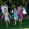 Amelia Price, Isla Trail, and Drew Pavao play in Market Landing Park