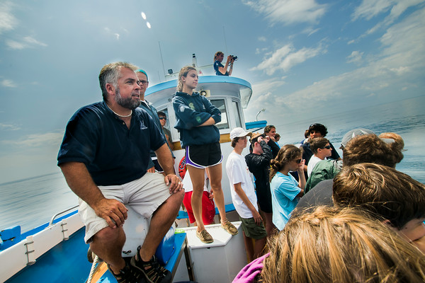JIM VAIKNORAS/Staff photo Rob talks with the kids on the on the Capt George