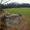 JIM VAIKNORAS/Staff photo A engraved stone at the French-Pettengill preserve in Salisbury.