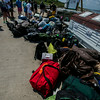 JIM VAIKNORAS/Staff photo camping gearat the Isle of Shoals