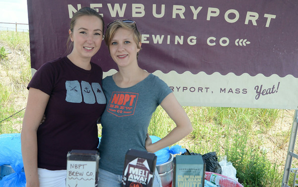 JIM VAIKNORAS/Staff photo Deanna Moreau and Nell Robinson of the Newburyport Brewing Co at the Newburyport 250th Clam Bake.