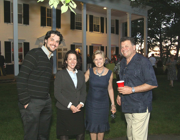 Photo by Frank J. Leone, Jr.<br /> Enjoying the evening, from left, Jeff Ives, Senator Katy O'Connor Ives with co-hosts, Ann and Charles Lagasse,<br /> all of Newburyport,<br /> at the Women of Northern Essex Community College 18th Annual Fundraising Event, Saturday, home<br /> of Ann and Charles Lagasse, Newburyport.<br /> 6-14-14