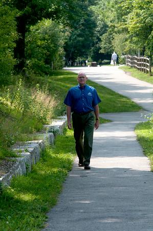 JIM VAIKNORAS/staff photo Bill Steelman at the Rail Trail in Newburyport