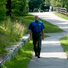 JIM VAIKNORAS/staff photo Bill Steelman at the Rail Trail in Newburyport