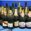 BRYAN EATON/Staff Photo. Old sparkling wine bottles sit in a corner of the shop that were used for celebrating wins.