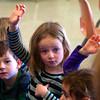 Payton Keller raises her hand.