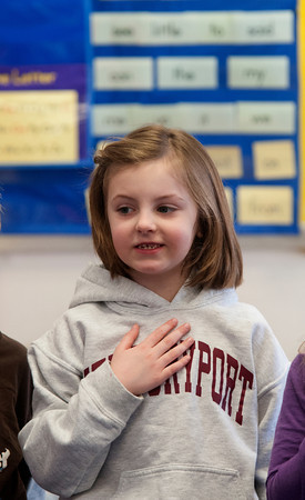 Chloe Roby Pledges Allegiance in Melissa Duguie's Class
