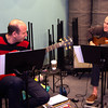 Yamam Akdogah, left, and Dan Searl rehearse at Zach Field Studio. Jim Vaiknoras photo