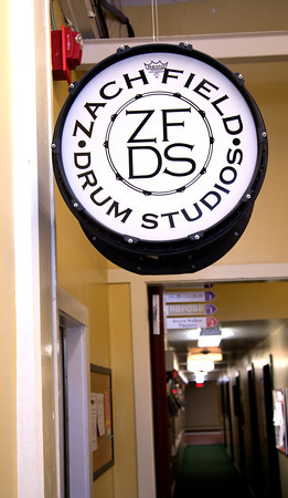 Drum Sign at Zach Field Drum Studio at the Tannery in Newburyport. Jim Vaiknors photo