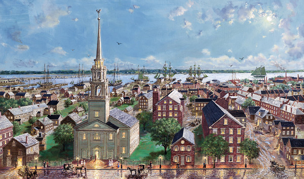 Pleasant Street to the Ships, Newburyport, 1860s