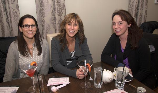 Sarah Macomber of Haverhill , Hiedi DiPietro of West Newbury, and Diane Demakis of Swampscott at Andiamo in Newburyport.