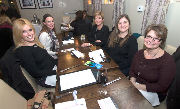 Quentara Costa, Melinda Poirier, Laura La Montagne, Vanessa Burrill, and Julie Borhesiat Andiamo in Newburyport.