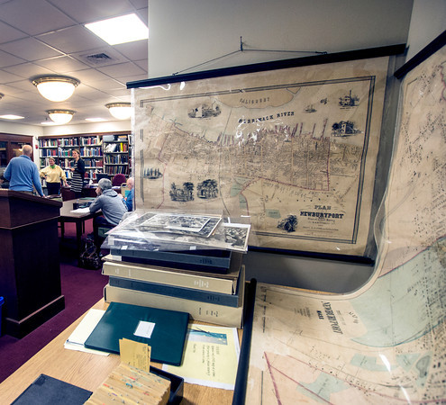 Some of the many maps Newburyport Library archive center