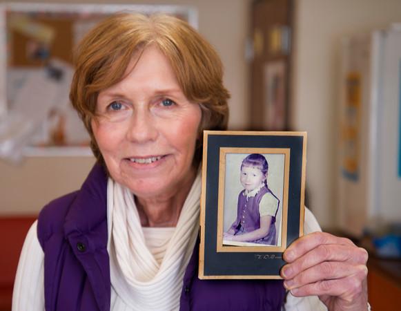 Brown School Nurse Lynne Rurak with her first grade photo