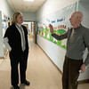 John Gove along with principal Amy Sullivan visits  the Brown School
