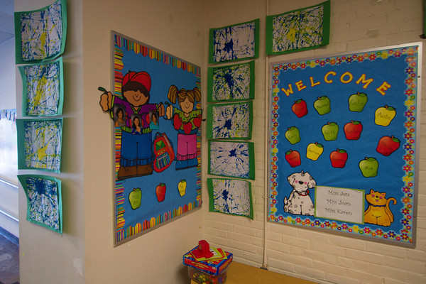 Entrance to a classroom at te Brown School