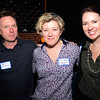 JIM VAIKNORAS/Staff photo Brian Callahan of Helium Design, Mary Boland of Anchor Hitch Media and Shannon Riley of Digital First Media