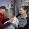 BRYAN EATON/Staff Photo. Matt Zinck and Payton Mastaw of Amesbury with their son Jordan Zinck, born February 9, in the neo-natal area.
