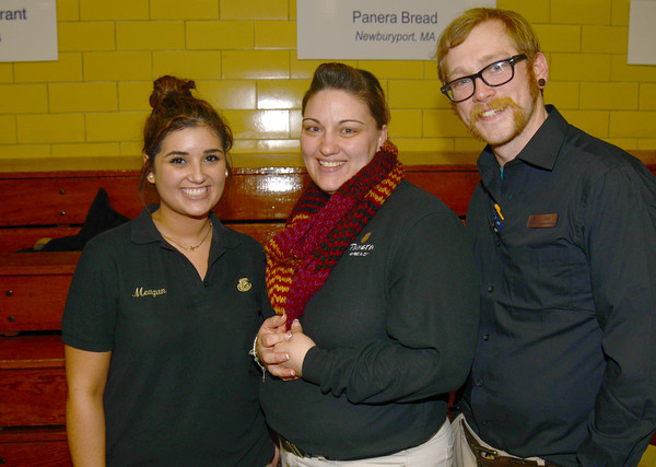 Meagan Webster, Tracie Tilton, and Andy Bohren of Panera at Great Chef's night at the Governor's Academy.Jim Vaiknoras/staff photo