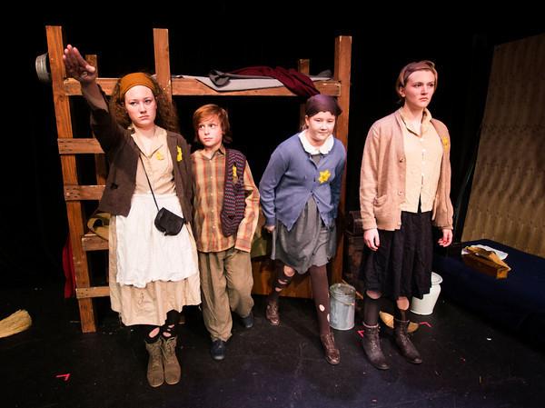 Emily Fluet, Liam Bixby, Ella Bernard, and Lily MacCleod  in Terezin at the Actors studio