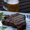 Porterhouse steak and Newburyport Brewing Company Beer from Fowles