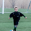 Cooper Brewer in a U8 game at Amesbury Sports Park.