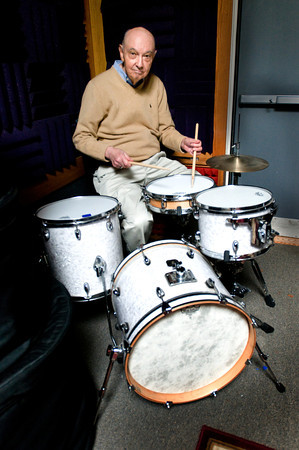 BRYAN EATON/ Staff Photo. Drummer and music instructor Les Harris.