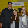 Alan Bythewood of Newburyport, Amelia Martin of Newburyport and Kiana Rolfe of Salisbury all from the Anna Jaques Cafe at Great Chef's night at the Governor's Academy.Jim Vaiknoras/staff photo