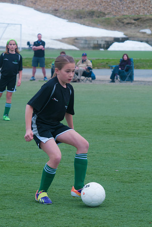 Lily Strohecker in a U10 game at Amesbury Sports Park.