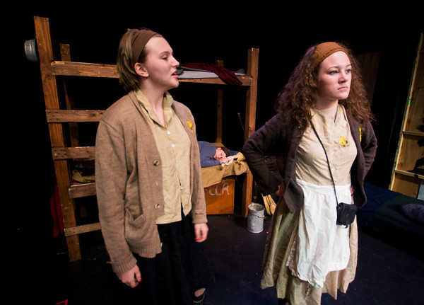 Lily MacCleod as Miriam and Emily Fuet as Corinna in Terezin