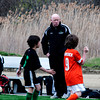 Tosh Farrell with his U8 boys team at Amesbury Park