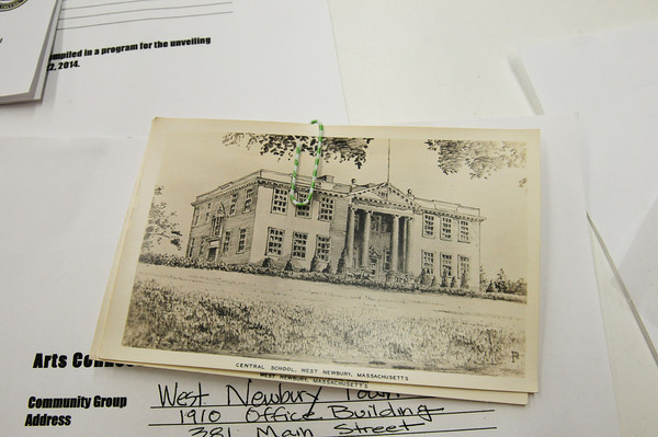 BRYAN EATON/ Staff Photo. The Central School in West Newbury which now houses the town's offices.