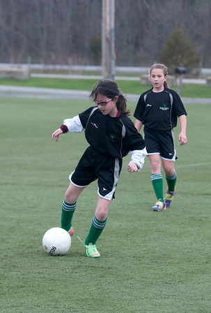 Ashley Walter in a U10 game at Amesbury Sports Park