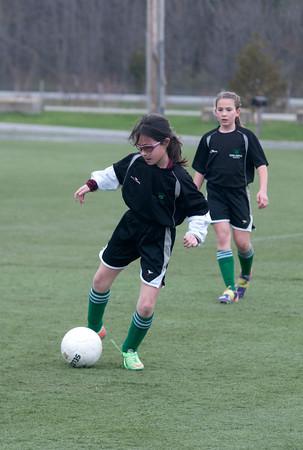 Ashley Walter in a U10 game at Amesbury Sports Park