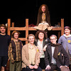 James Nation, Liam Bixby, Lily MacCleod , Anna,  Matt Keleher, Ella Bernard, and behind is Emily Fluet in Terezin at the Actors studio