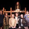 James Nation, Liam Bixby, Lily MacCleod , Anna,  Matt Keleher, Ella Bernard, and behind is Emily Fluet in Terezin at the Actors studio