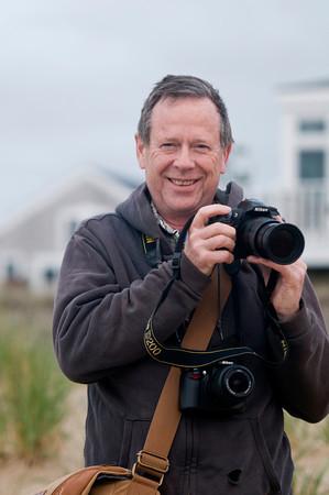 Joe Gerry at sunrise on Plum Island.