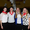Volunteers from eth triton Community Service Club Liz Willmonton of Rowley, Laura Frankiewicz of Byfield, Courtny Brown of Byfield and Samatha Brown of Byfield at Great Chef's night at the Governor's Academy.Jim Vaiknoras/staff photo