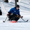 Eric Larsen on a mono ski