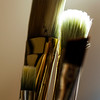 JIM VAIKNORAS/Staff photo  Ron Emmerling's brushes