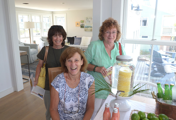 JIM VAIKNORAS/Staff photo Sue O'Brien of Plastow NH, Jean Carusi of Newburyport, and Mary Ellen Sorenson of Haverhill at 89 Northern Blvd, Plum Island during the annual Kitchen tours