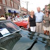 BRYAN EATON/Staff photo. Among the throngs of the car show, from left, Karen Cameron, Kevin Hunt, Barbara and Paul Neelon, all of Plum Island.