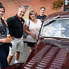 BRYAN EATON/Staff photo. Next to a 1939 Ford Coupe is MacKenzie Richard and her parents, Bill and Kerry of Amesbury, and Kyle Dzwonek also of Amesbury.
