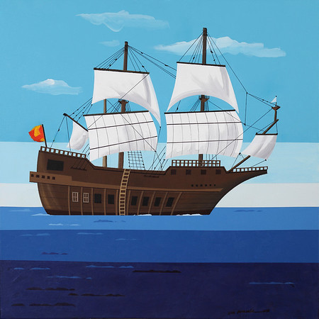 El Galeon by Ron Emmerling  one of the pieces of art for the El Galeon exibit at the Custom House this fall.